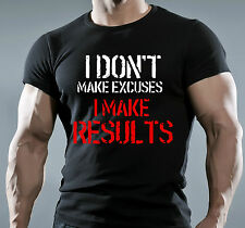 Mens BODYBUILDING MMA GYM MOTIVATION T-Shirt BEST WORKOUT CLOTHING TRAINING TOP