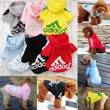 Pet Puppy Dog Cat Autumn Coat Clothes Hoodie Sweater Costumes Size XS M L XXL