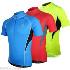 New Men's Cycling Sport Jersey Bicycle Wear Clothing Short Sleeves Shirt Top