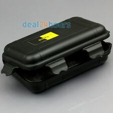 Black Waterproof Airtight Fly Fishing Container Case Storage Travel Box Plastic