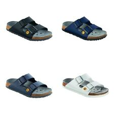 Birkenstock Professional Arizona ESD Sandals - Black White Blue - Birko-Flor