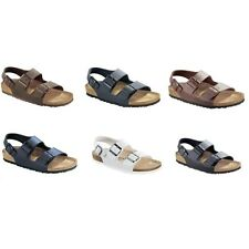 Birkenstock Milano Sandals Birko-Flor - regular narrow - white brown black blue