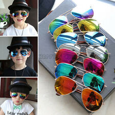 Fashion Style Metal Frame Mirror Sunglasses Child Goggles Sun Glasses Cool Boys