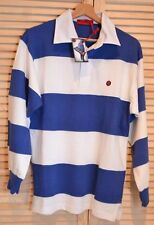 80s Casuals Treviso Rugby Shirt in White / Blue / SALE / Benetton / Rare