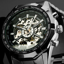 Luxury Winner Skeleton Mens Watch Analog Mechanical Business Wrist Watch
