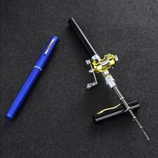 Mini Portable Pocket Pen Shape Aluminum Alloy Fish Fishing Rod Pole + Reel SI