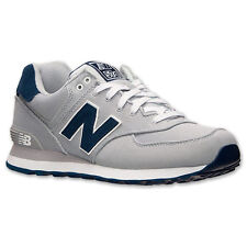New Balance ML574POY: Classic 574 Pique Polo Pack GREY/Navy Walking Sneakers MEN