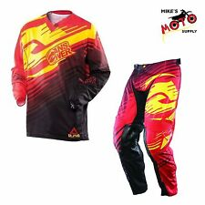 Answer Racing A13 Alpha Pant/Jersey Combo Red 34 Pant/LG Jersey