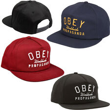 OBEY Cappello CLUB SNAPBACK Cap ORIGINALE New HAT Berretto VISIERA PIATTA