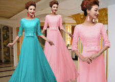 Plus Size Long Chiffon Bridesmaid Formal Gown Ball Party Evening Prom Dress NEW
