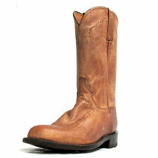 Lucchese Men's Tan Mad Dog Goat Roper Boots M1017