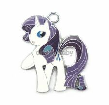 Lot My Little Pony Rarity Metal Charm Pendants DIY Jewelry Making Party Gift E43