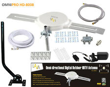 LAVA OMNI-DIRECTIONAL OUTDOOR HDTV VHF TV ANTENNA HD-8008 CABLE INSTALL KIT