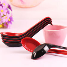 Red & black Color Home & Dining Flatware Japanese Plastic Soup Spoon A44~8