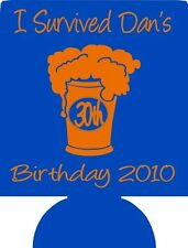 30th Birthday Koozies Beer 247 lot of 25 to 100 Custom Personalized