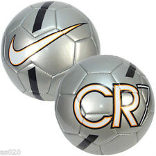 NEW Nike CR7 Prestige Ronaldo Match Football Soccer Ball - Silver - Size 3 4 5
