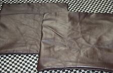 Italian Leather Cushion Covers in a Lovely Light Textured Dark Brown