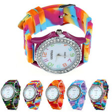Price Cut Women Geneva Silicone Crystal Bling Analog Digital Quartz Wrist Watch