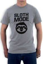Sloth Mode T-Shirt Funny Lazy Cute Beast Workout Parody Ask Me Why Crewneck Tee
