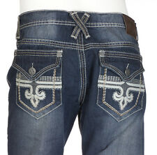 Xtreme Couture AFFLICTION Men Denim Jeans GEO FLAP Embroidered UFC BKE 34-40 $88