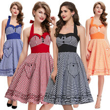 Vintage Rockabilly 50er 60er Jahre Petticoat Polka Dot Retro Dirndl Pin Up Kleid