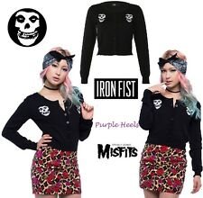 Iron Fist Misfits Fiend Iconic Skull Black Sweater Cardigan Summer 15 S-XL