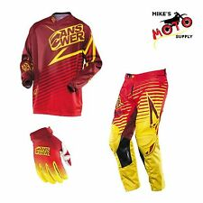 Answer Racing A14 Ion Pant/Jersey/Glove Combo Red/Yellow