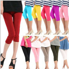 Multi-Color Women Sexy Seamless Solid Leggings Yoga Stretch Skinny Cropped Pants