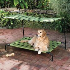New Pet Dog Bed with canopy shade indoor/outdoor choose print LARGE size MT