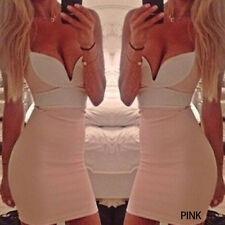 Lady Charming Sexy Bandage BodyCon Cotton Fiber Party Cocktail Short Mini Dress