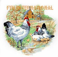 B76 ~ White Rooster, Chickens, 2 sizes