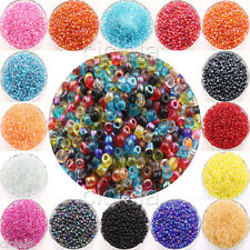 100 Pcs Colorful Round Czech Glass Seed Spacer Loose Beads Jewelry Findings 4mm