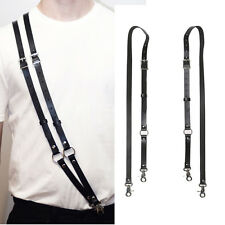 Cool Men Women Leather Suspender Straps Belt Multiway Wear Handmade Body Harness