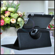 Leather 360 Rotating Snap On Style Tablet Case fits iPad 2nd 3rd 4th Generation