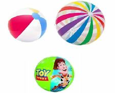 """Inflatable Blowup Beach Ball 16"""" 20"""" 24"""" 42"""" Party Swimming Garden Toy Story"""
