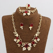 18K Gold Plated 4 Colors Goldfish Jewelry Sets Bracelet Ring Earrings Necklace