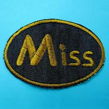 Denim Miss Lady Woman Iron on Sew Patch Embroidered Badge Applique Biker Cute