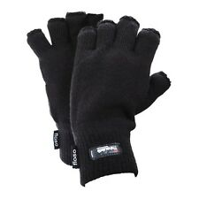 FLOSO Mens Thinsulate Thermal Winter Warm Casual Fingerless Gloves (3M 40g)