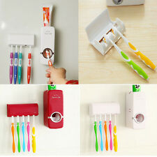 Color Wall Mount Rack Automatic Toothpaste Dispenser Toothbrush Holder Stand Hot