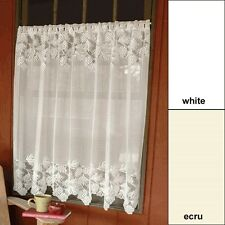 Heritage Lace WOODLAND CURTAINS, TIERS, VALANCES, SWAGS  6 sizes  White or Ecru