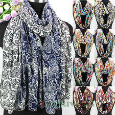 Fashion Women's Chiffon Scarf Multicolor Paisley Floral Long/Infinity Scarf New