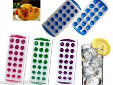 POP OUT ICE CUBE TRAY QUICK EASY RELEASE SOFT FLEXIBLE BACK NO MESS PARTY