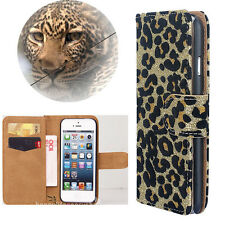 Wild Sexy leopard print Wallet Leather Flip Case Cover for Various LG Cell Phone