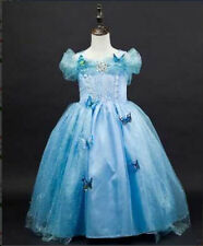 butterfly Cinderella Sandy Princess Cosplay Costume Kids Girls Party Fancy Dress