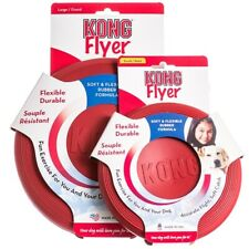 Kong Classic Flyer Tough Rubber Dog Toy - Large or Small Fetch Catch