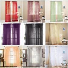 Door Window Curtain Drape Panel or Scarf Assorted Scarf Sheer Voile 19 Color G29