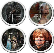 Game of thrones tv wall clock add name or text can be added free