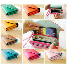Crown Wallet Card Coin Phone Case Cover Purse For iPhone 5 6 Samsung Galaxy S