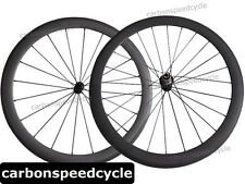 NEW Carbon Road Bicycle Wheel 50mm Clincher/Tubular Powerway R13 Ceramic Hubs