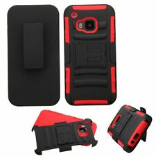Advanced Plain Designed Armor Stand Case Cover With Holster For HTC One M9